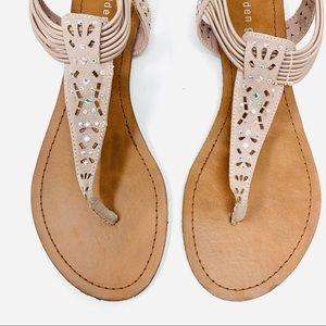 Madden Girl | Like-New Nude Embellished Sandals 10